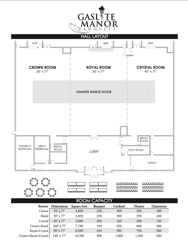 Banquet hall layout weddings wedding chapel banquets for Banquet hall designs layout
